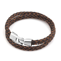 Brown Simple Vogue Weaving Double Chain Cortical Bracelet