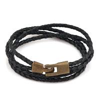 Black Simple Vogue Weaving Double Chain Cortical Bracelet