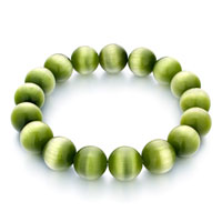 Classic Peridot Green Agate Beads Stretch Bracelets
