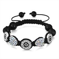 Shamballa Bracelet Heart Crystal Aurore Boreale Rhienstone Round Eye