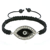 Evil Eyes Bracelets Clear White Iced Crystal Handmade Evil Eye Black Bracelets