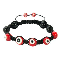 Shamballa Bracelet Fad Macrame Bling Jewelry Red Evil Eye Beads Bracelets