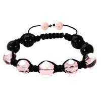 Shamballa Bracelet Fad Macrame Bling Jewelry Rose Pink Evil Eye Beads Bracelets