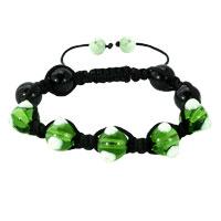 Shamballa Bracelet Fad Macrame Bling Jewelry Pale Green Evil Eye Beads Bracelets
