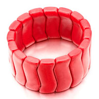 Red Passion Round Turquoise Bracelets Murano Glass Bracelet