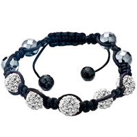 Shambhala Bracelet Unisex Crystal Disco Ball Friendship