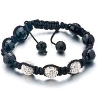 Shambhala Bracelet Unisex Clear White Swarovski Elements Crystal