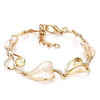 Alternate Gold Heart Shell Pearl Lobster Clasp Extend Bracelets