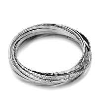 Decorative Silver Wire Bracelets