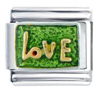 Golden Italian Charm Bracelet Love Letter