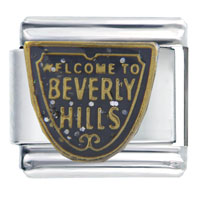 Beverly Hills Themed Travel Flags Charms Italian Bracelet Italian Charm