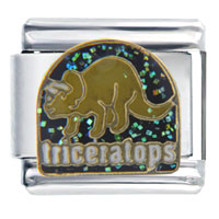 Triceratops Animal Italian Charms