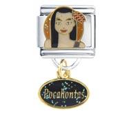 Pocahontas Girl Charms Italian Bracelet Dangle Italian Charm