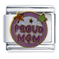 Proud Mom Celebration Italian Charms