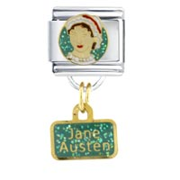 Jane Austen Work Leisure Italian Charms Dangle Italian Charm