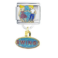 Dance Swing Work Leisure Italian Charm Bracelet Dangle Italian Charm