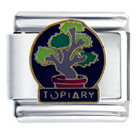 Bonsai Topiary Travel Flags Italian Charm Bracelet