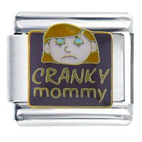 Cranky Mommy Words Phrases Italian Charm Bracelet