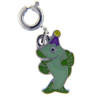 Party Fish Link Dangle European Beads Fit All Brands