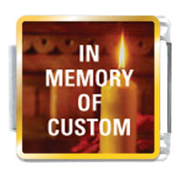 In Memory Custom Gift Ideas Italian Charm