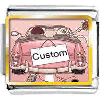 Pink Lover In Car Home Custom Photo Italian Charms
