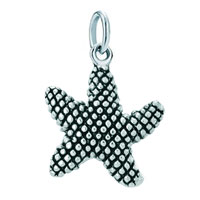 White Plated Cute Starfish Clasp Dangle European Beads Fit All Brands
