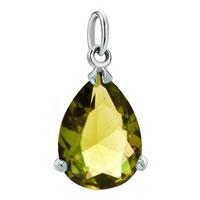 White Plated Yellow Diamond Accent Fleur De Lis Love Clasp Dangle European Beads Fit All Brands