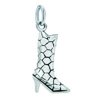 White Plated Snatchy Shape Design Delicate Beautiful Boot Clasp Dangle European Beads Fit All Brands