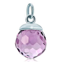 White Plated Alexandrite Amethyst Diamond Accent Clasp Dangle European Beads Fit All Brands