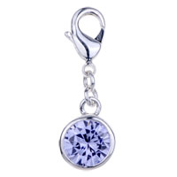 Amore Lavita Tm Light Blue Crystal 925 Sterling Silver Lobster Clasp Charm For Charm Bracelet