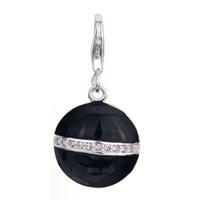 Black 925 Sterling Link Dangle European Beads Fit All Brands