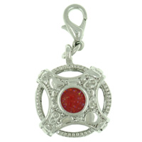 Red Solar Cross Link Dangle European Beads Fit All Brands