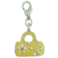Yellow Bag Link Dangle European Beads Fit All Brands
