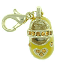 Yellow Mary Jane Shoe Clasp Charm