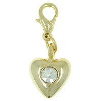 Small Heart Clasy Link Dangle European Beads Fit All Brands