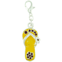 Yellow Sandal Link Dangle European Beads Fit All Brands