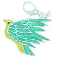 Beautiful Flying Bird Link Dangle European Beads Fit All Brands