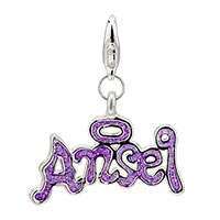 Halo Angel Sterling Silver Clasp Charm