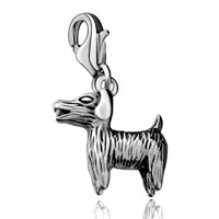 Cute Dog Sterling Clasp Jewelry Dangle European Beads Fit All Brands