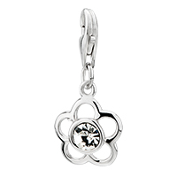 925 Sterling Amore Lavita Flower Clear Lobster Clasp Pendant Dangle European Beads Fit All Brands