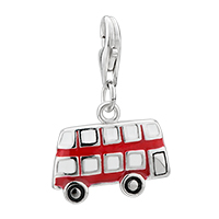 Amore Lavita Tm Red Bus Sterling Clasp Dangle European Beads Fit All Brands