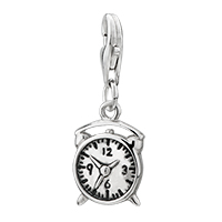 Amore Lavitatm Alarm Clock Classic Sterling Clasp Dangle European Beads Fit All Brands