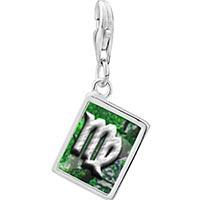 """Link Charm Bracelet - 925  sterling silver """" me""""  logophoto rectangle frame link charm Image."""