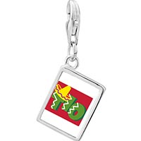 Link Charm Bracelet - 925  sterling silver tio cactus desert photo rectangle frame link charm Image.