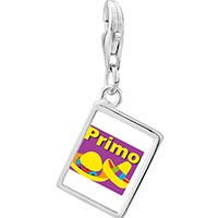 Link Charm Bracelet - 925  sterling silver primo mexican hats photo rectangle frame link charm Image.