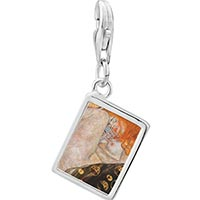 Link Charm Bracelet - 925  sterling silver body artphoto rectangle frame link charm Image.