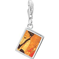 Link Charm Bracelet - 925  sterling silver emperor houzhu of chen photo rectangle frame link charm Image.
