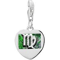 """Link Charm Bracelet - 925  sterling silver """" me""""  logophoto heart frame link charm Image."""