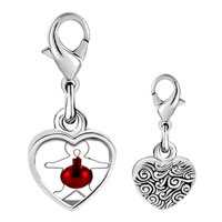 Link Charm Bracelet - 925  sterling silver gingerbread man christmas ornament photo heart frame charm pendant with lobster clasp for charms bracelet or necklace Image.