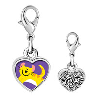 Link Charm Bracelet - 925  sterling silver american curl cat photo heart frame link charm Image.
